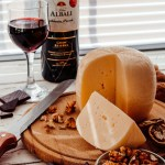 cheese, nuts, wine