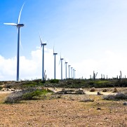Wind turbines in the Caribbean