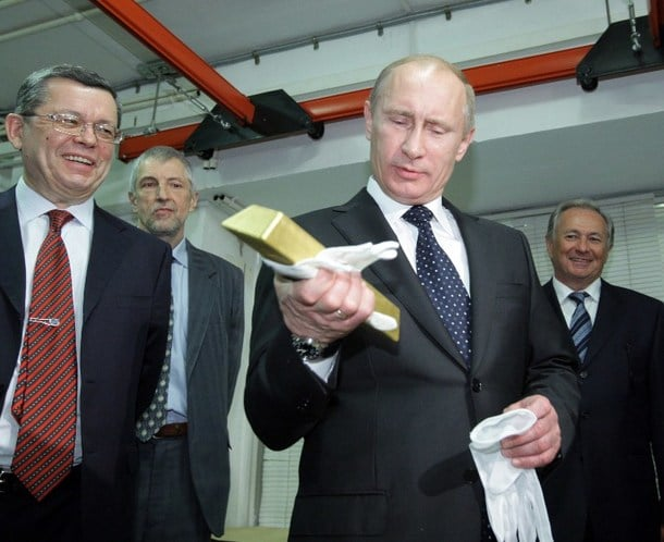 Image result for Russia desires gold for its currency