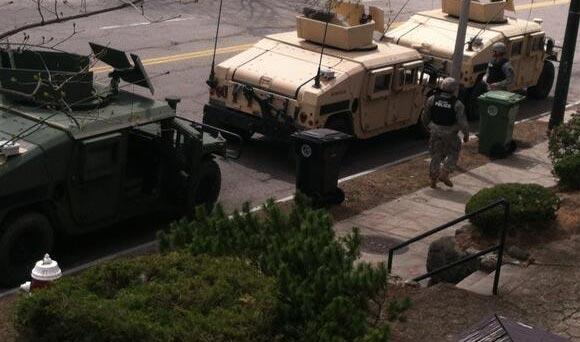 BATTLEFIELD USA: De Facto State of Martial Law Declared In Boston *Pics From the War Zone* Boston martial law5