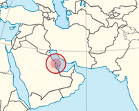 Bahrain map, TUBS, Wikimedia Commons.