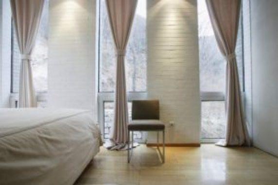 Вариант штор в спальню