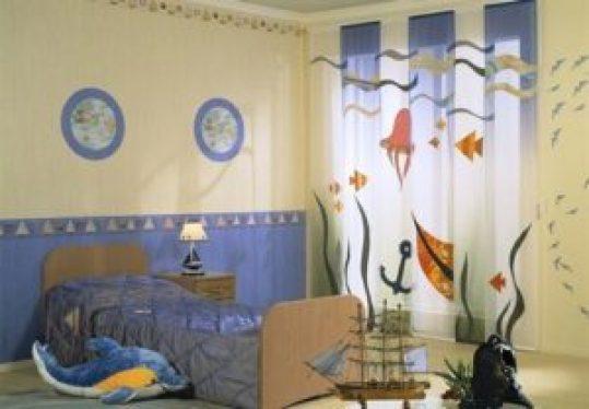 Морские шторы детская