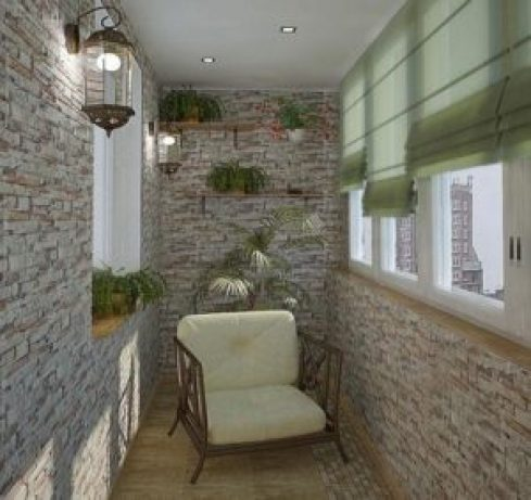 Уютный балкон шторы