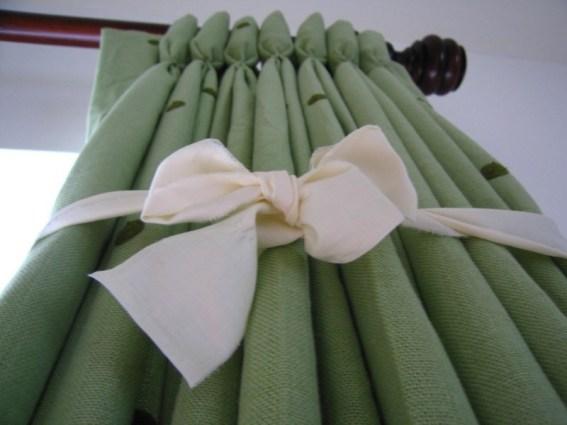 Складки на шторах бант