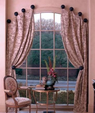 повесить шторы без карниза