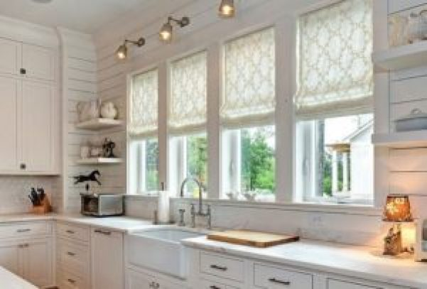 Римские шторы на кухни фото