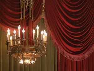 Architectural Detail Bernard B Jacobs Theatre Curtain And Chandelier Jpg