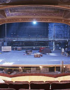 Winter garden during restoration stage and prosceniumg also theatre shubert organization rh nyc