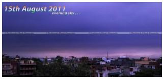 An evening, cloudy sky...