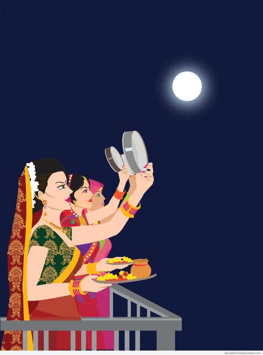 Loving Bond Between Couples Karva Chauth And Its