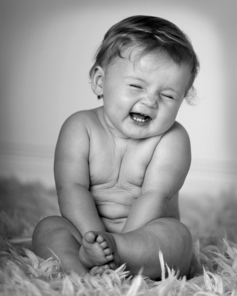 Baby laughter