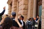 Protestors enter the Capitol.