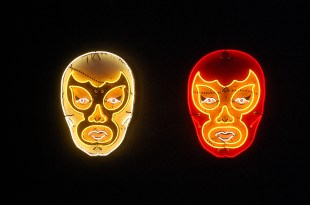 """""""White Luchador"""" and """"Red Luchador"""" by Todd Sanders"""