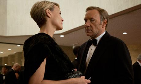 "Robin Wright and Kevin Spacey star in Netflix original series ""House of Cards."" Photo courtesy of guardian.co.uk."