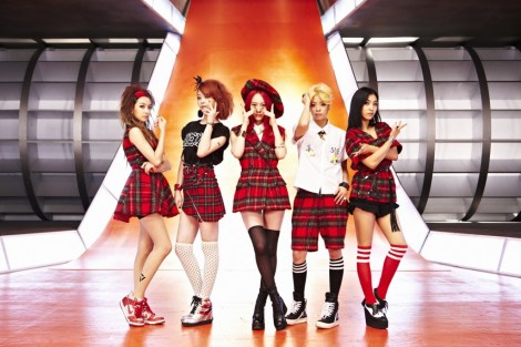 K-pop girls band F(x) dressed for a music video. Photo courtesy of Official SM Town YouTube