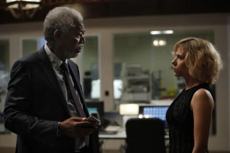 "Morgan Freeman and Scarlett Johansson star in Luc Besson's ""Lucy."" Photo courtesy of wearemoviegeeks.com."