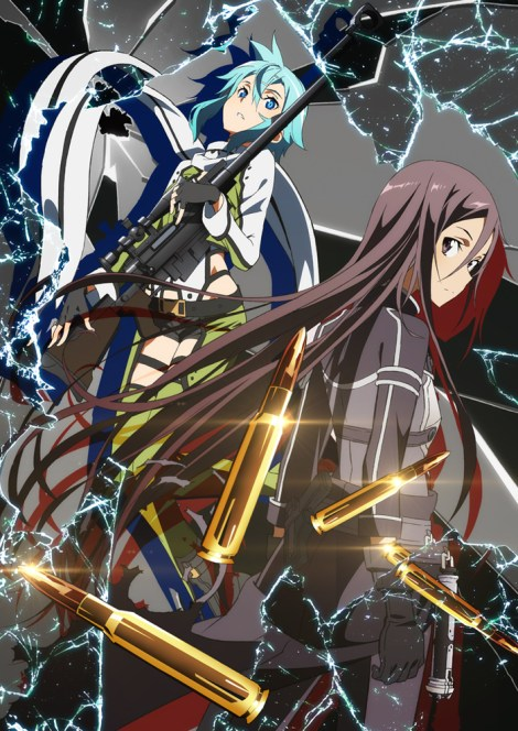 "Promotional image of Sinon and Kirito in ""Sword Art Online II."" Photo courtesy of videogamefilms.com."