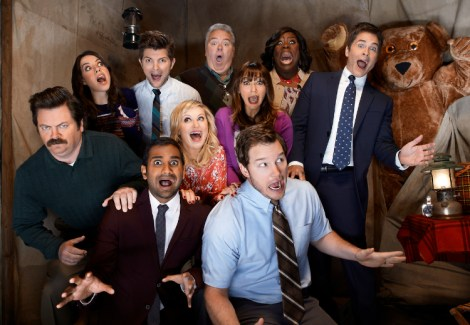 "The cast of ""Parks and Recreation."" Photo from nbcparksandrec.tumblr.com"