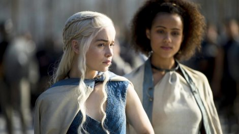 "Emilia Clarke stars as Daenerys Targaryen, the Mother of Dragons, in HBO's hit ""Game of Thrones."" The show will continue into its fifth season next year. Photo courtesy of zap2it.com"