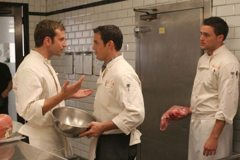 "Bradley Cooper and Nicholas Brendon starred in ""Kitchen Confidential,"" a New York ""foodie"" show that got cancelled in 2006 after just one season on air. Photo courtesy of dennysisforwinners.wordpress.com"