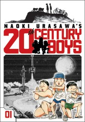 The first volume of 20th Century Boys by Naoki Urasawa. Courtest of nikkeivoice.ca.