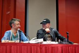 "Sean Gunn and his ""Guardians of the Galaxy"" costar Michael Rooker. Photo by ChinLin Pan"