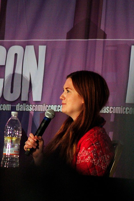 """Harry Potter""'s youngest Weasley Bonnie Wright came to Dallas Comic Con Fan Days as her first U.S. comic con."