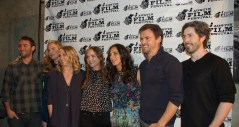 """Casual"" cast and crew from left to right: creator/executive producer Zander Lehmann, producer Helen Estabrook, producer Liz Tigelaar, actress Tara Lynn Barr, actress Michaela Watkins, actor Tommy Dewey, and writer Jason Reitman / Photo by ChinLin Pan"