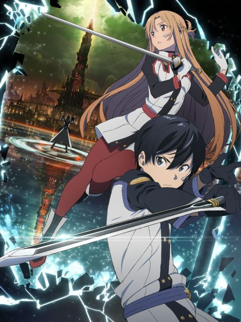 """Kirito and Asuna in their """"Ordinal Scale"""" outfits, as drawn by Shingo Adachi / Image courtesy of A-1 Pictures and Aniplex USA"""