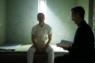 """As he awaits his """"execution,"""" Callum Lynch (Michael Fassbender) is as yet unaware of the incredible adventures that lie ahead for him. Photo Credit: Kerry Brown."""