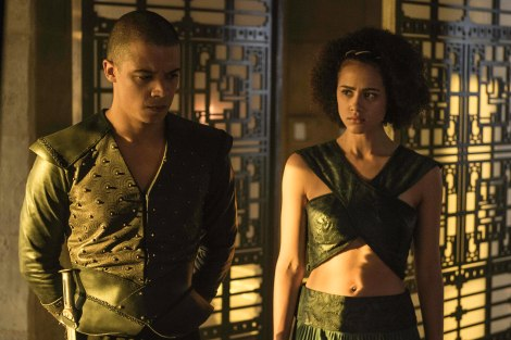 Grey Worm and Missandei