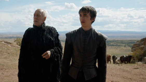 Max von Sydow as the Three-Eyed Raven and Isaac Hempstead Wright as Bran Stark. Photo- HBO.com