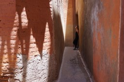 Standing in the alley way of the Saadian Tombs