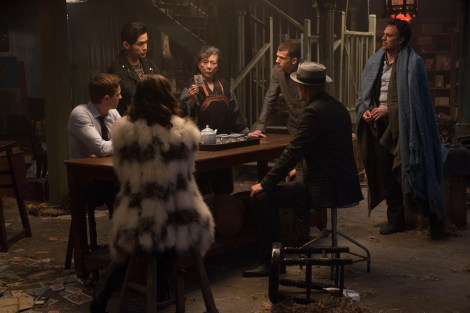 From left to right: Jack Wilder (Dave Franco), Li (Jay Chou), Bu Bu (Tsai Chin), J. Daniel Atlas (Jesse Eisenberg) and Dylan Rhodes (Mark Ruffalo). Photo Credit: Jay Maidment