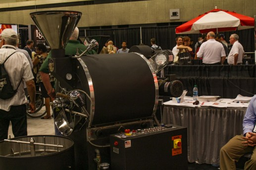 US Roaster Corp brought some heavy machinery showing how coffee gets from bean to cup.