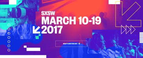 SXSW 2017 homepage screenshot