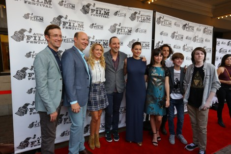 """The cast of """"Brave New Jersey"""" at the Austin Film Festival premiere. / Photo by Parker Conley"""
