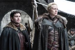 Podrick Payne (Daniel Porter), Brienne of Tarth (Gwendoline Christie) | Photo credit: Helen Sloan/HBO