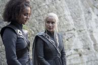 Missandei (Nathalie Emmanuel), Daenerys (Emilia Clarke) | Photo credit: Macall B. Polay/HBO