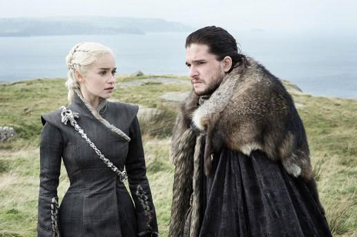 Daenerys (Emilia Clarke), Jon Snow (Kit Harington)   Photo by Helen Sloan/HBO