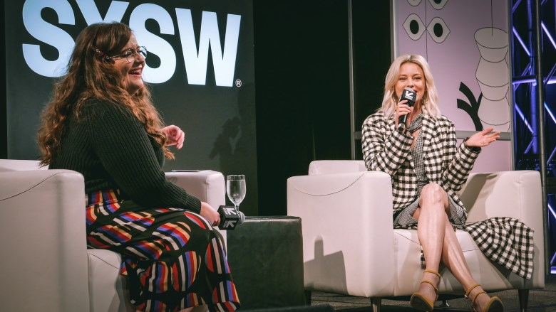 Aidy Bryant and Elizabeth Banks at SXSW