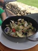 Clams from Terroir Restaurant at Craggy Range