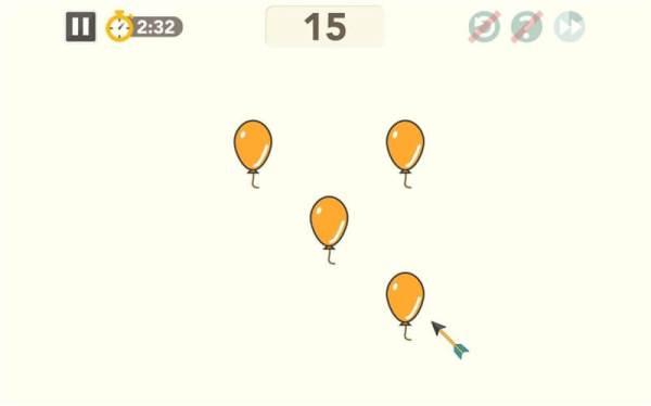 シンクシンク「ラッキーバルーン」のプレイ画面