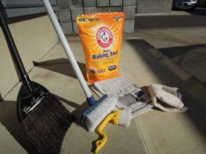玄関掃除用の道具