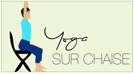 Yoga Sur Chaise  Maison Image Idée