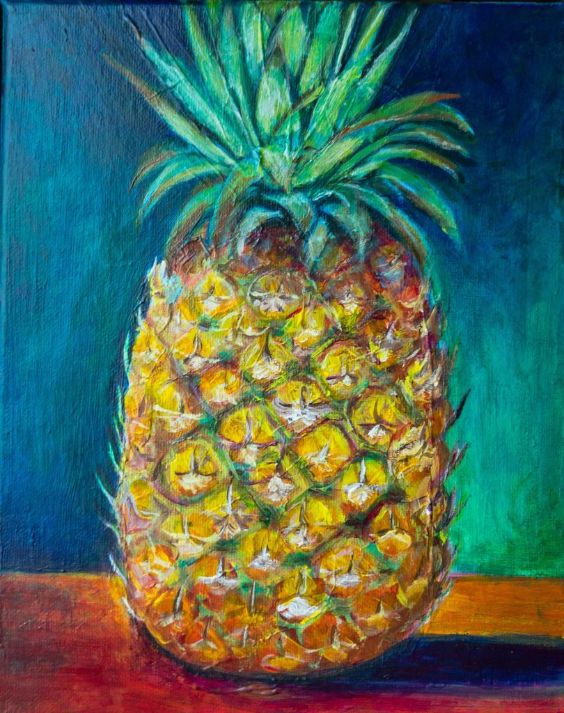 Tropical Pineapple Painting