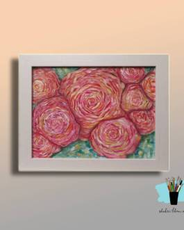 Soft As Petals – Rose Painting in Oil