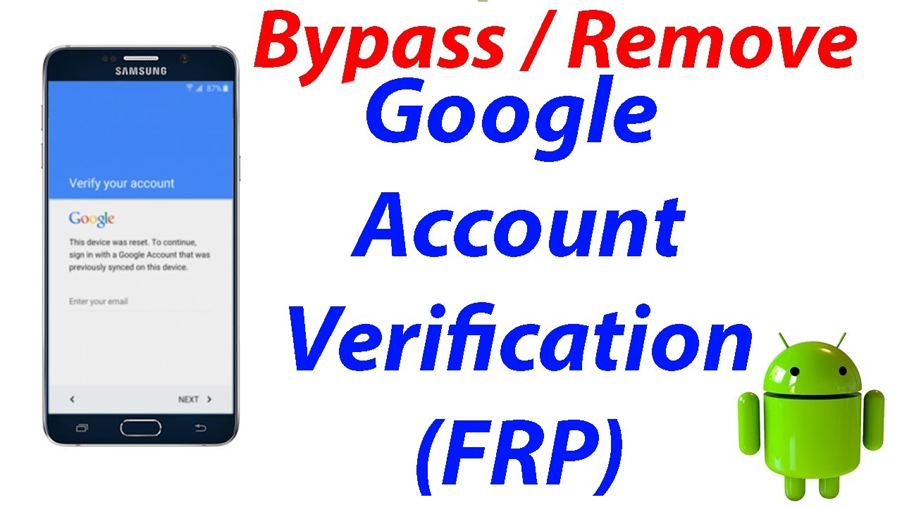 Android: Best tip to bypass the google verification after