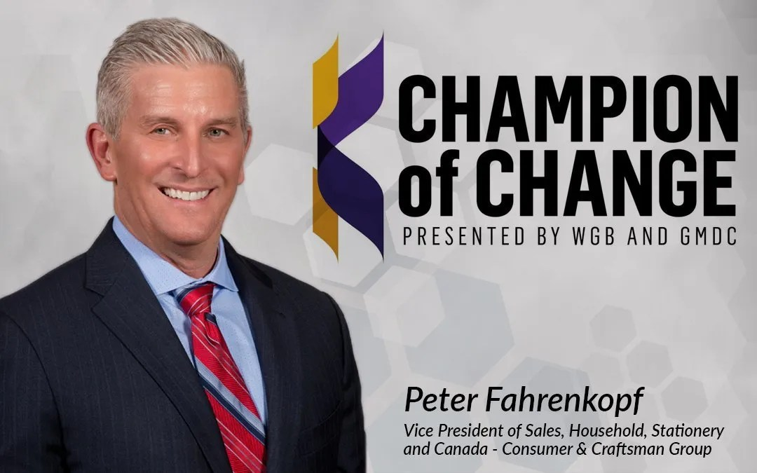 Shurtape Sales Executive Peter Fahrenkopf Recognized with  2020 Champions of Change Award from GMDC and Winsight Grocery Business